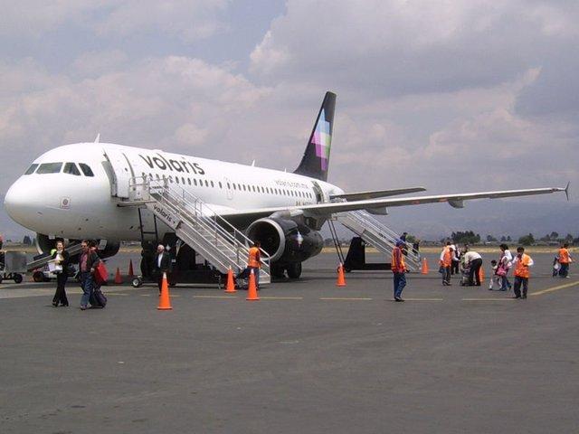 Avión de la compañía Volaris, imagen ilustrativa.