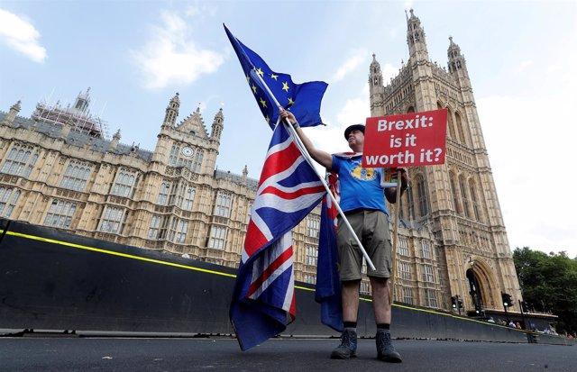 Anti-Brexit en el centro de Londres