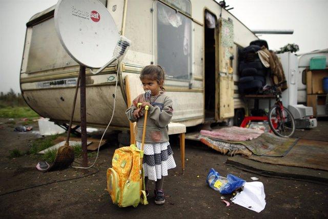 Pobreza, niña, hambre