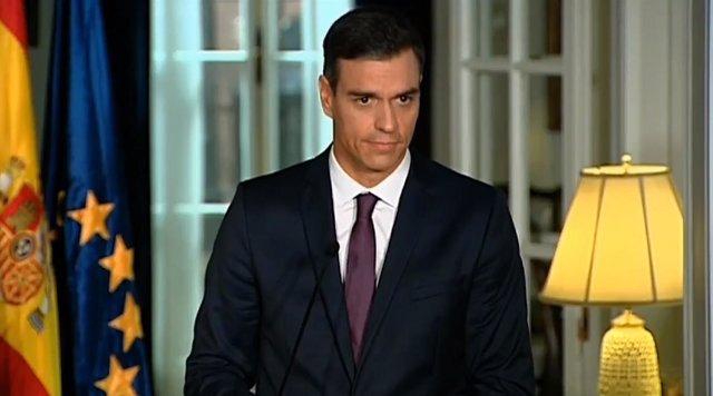 Pedro Sánchez en la residencia del representante permanente de España ante la ON