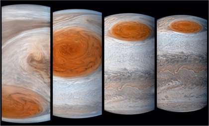 La Gran Mancha Roja de Júpiter se presenta como una 'punta de iceberg'