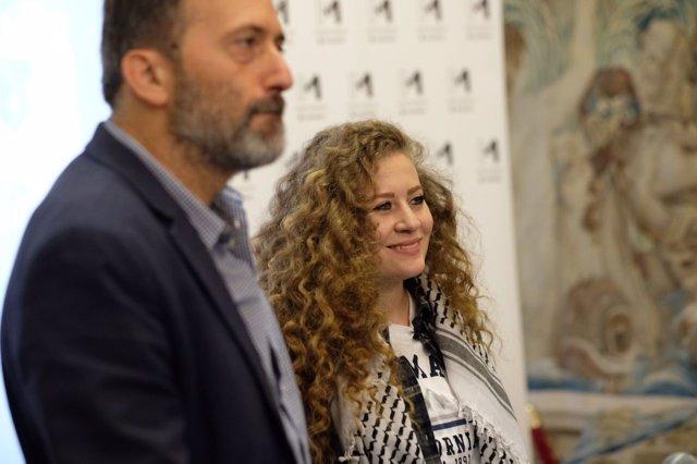La activista Ahed Tamimi en Madrid