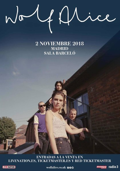 Wolf Alice anuncian concierto el 2 de noviembre en Madrid