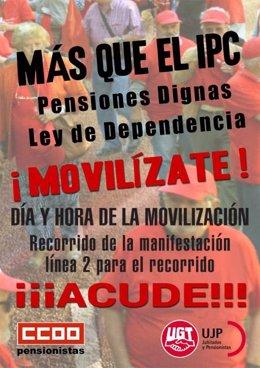 Manifestaciones de pensionistas el 1 de octubre