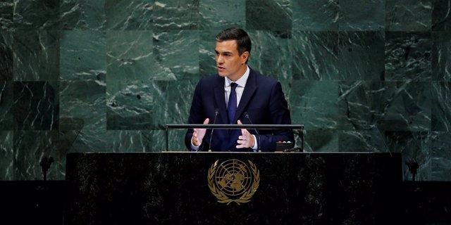 Pedro Sánchez ante la Asamblea General de la ONU