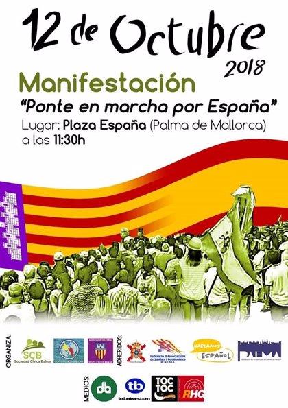 Convocan una manifestación en Palma el 12 de octubre por la unidad de España