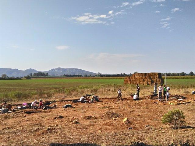 Excavación arqueológica en Vilanera (Girona)