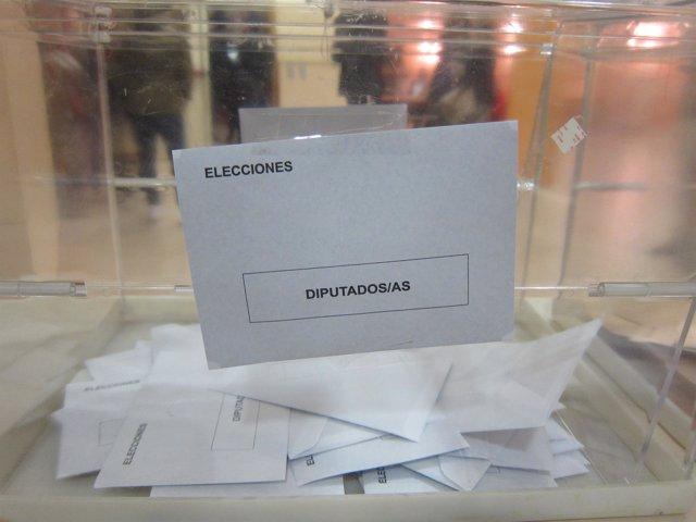 Urna, elecciones generales