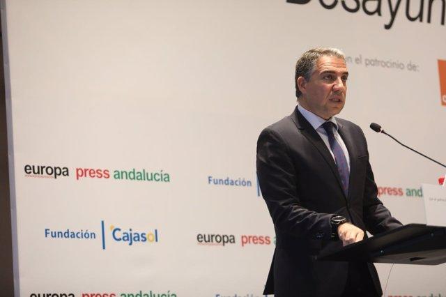 El presidente de la Diputación y del PP de Málaga, Elías Bendodo