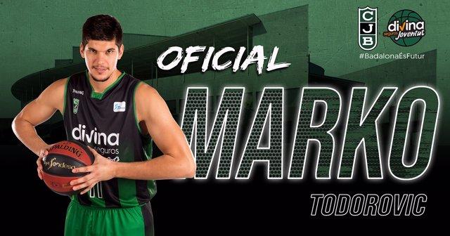 Marko Todorovic, nuevo jugador del Divina Seguros Joventut