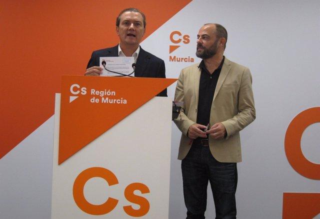 Los diputados de Ciudadanos en Congreso, Garaulet y José Luis Martínez