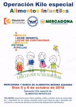 Cartel de la Operación Kilo de Alimentos Infantiles