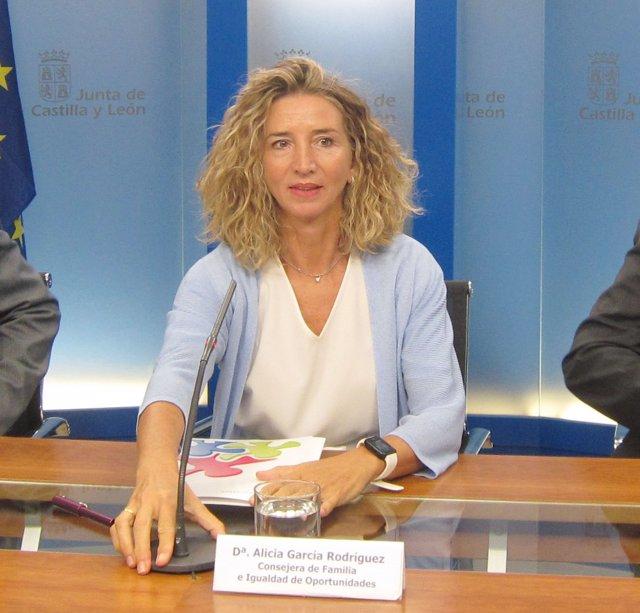Alicia García en la rueda de prensa