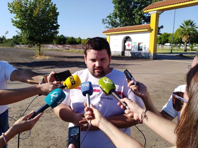 Víctor Domínguez, director de Socorros y Emergencias de Cruz Roja en Extremadura
