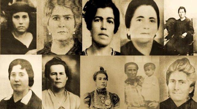 Algunas de las '17 mujeres de Guillena'
