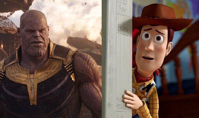 Vengadores: Infinity War y Toy Story 3