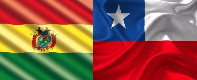 BANDERAS CHILE Y BOLIVIA