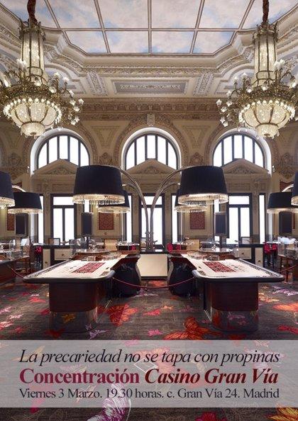 """Trabajadores del Casino Gran Vía se concentrarán esta tarde por los despidos """"improcedentes"""" y """"acoso recibidos"""""""