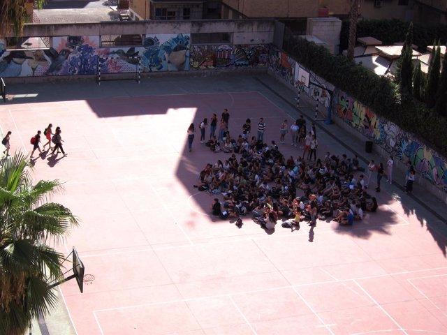 Concentración de alumnos en el IES Murillo de Sevilla