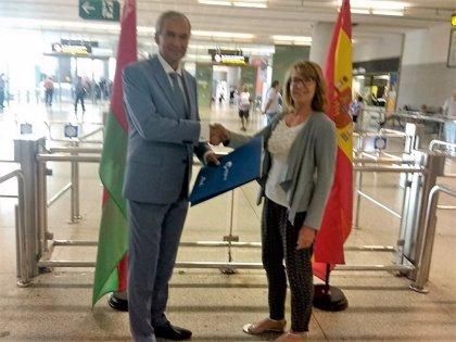 Málaga recibe el primer vuelo directo procedente de Bielorrusia