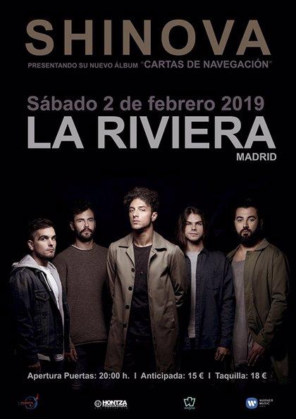 Shinova presentará nuevo disco en La Riviera madrileña