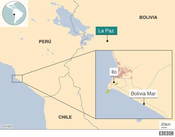 Puerto de Ilo y Bolivia Mar.