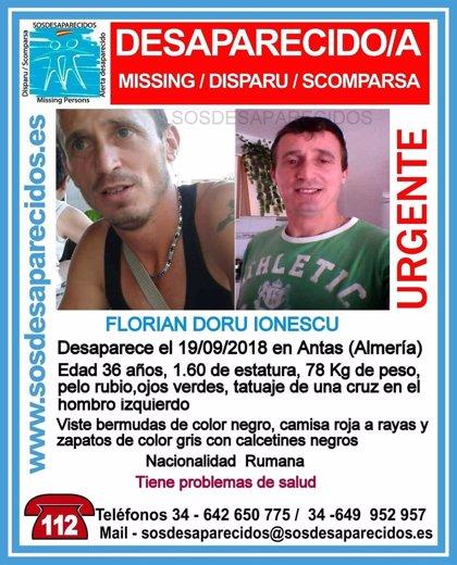 Buscan a un hombre desaparecido en Antas (Almería) con problemas de salud