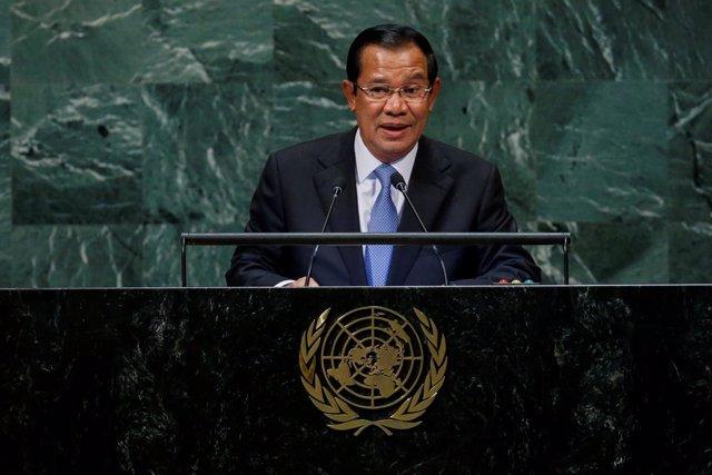 El primer ministro de Camboya, Hun Sen, en la Asamblea General de la ONU