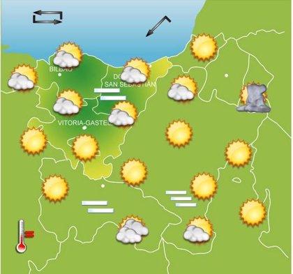 Previsiones meteorológicas del País Vasco para este sábado, día 29
