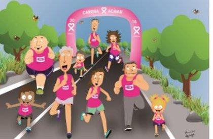 Acambi agota los 10.000 dorsales puestos a la venta para la carrera contra el cáncer de mama