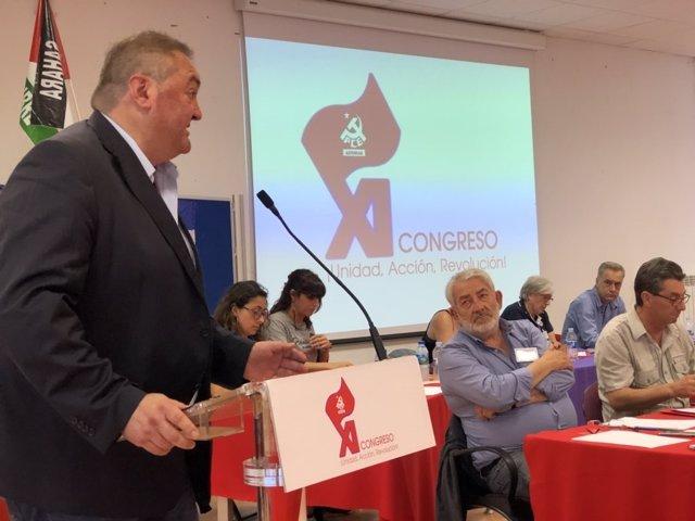 Coordinador regional de IU Asturias, Ramón Argüelles en una imagen de archivo.