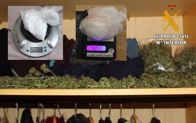 Armario con droga hallado en la operación en la Ribera