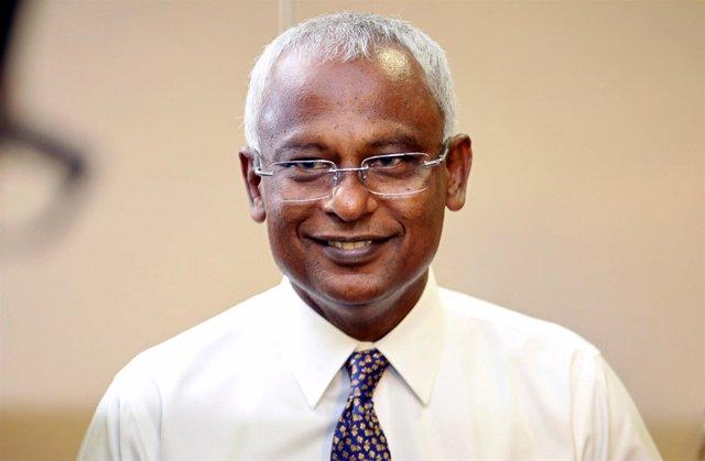 El candidato conjunto de la oposición a presidente de Maldivas, Mohamed Solih