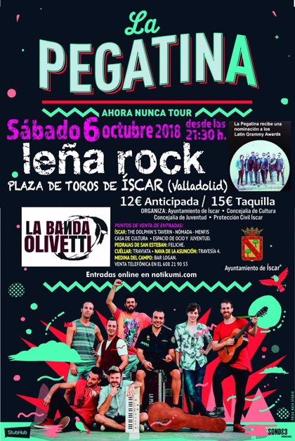 La Pegatina y La Banda Olivetti llenarán Íscar (Valladolid) de ska en el tercer Leña Rock