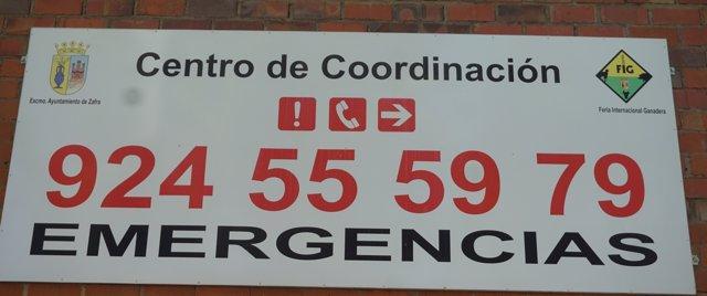 Teléfono del Centro de Urgencias en la Feria de Zafra