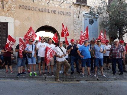 """Trabajadores del Tren de Sóller se movilizan para conseguir """"alguna propuesta aceptable"""" por parte de la empresa"""