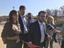 El vicepresident de la Generalitat, Pere Aragonès, en Lledoners