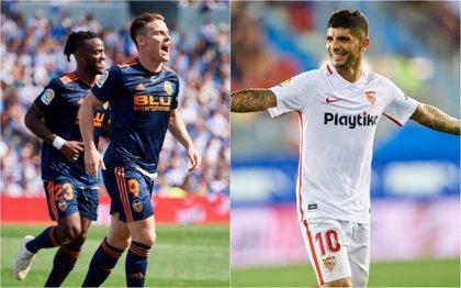 El Valencia gana su primer partido en Anoeta y el Sevilla se crece en Ipurua