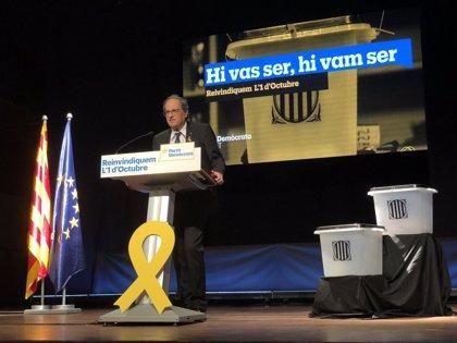 """Quim Torra afirma que la candidatura europea de Junqueras """"ayudará a internacionalizar el proceso"""""""