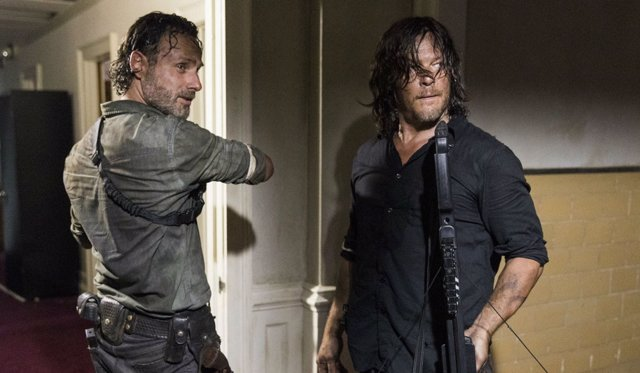 Andrew Lincoln y Norman Reedus en The Walking Dead