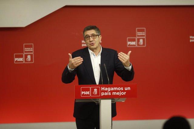 Foto de archivo del secretario de Política Federal del PSOE, Patxi López