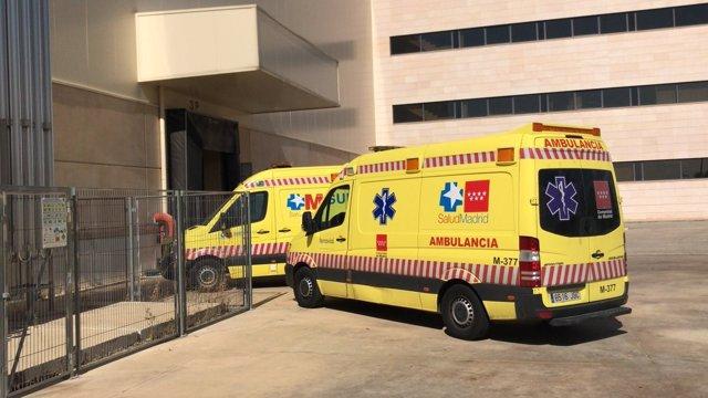 Ambulancias del Summa en el lugar del suceso