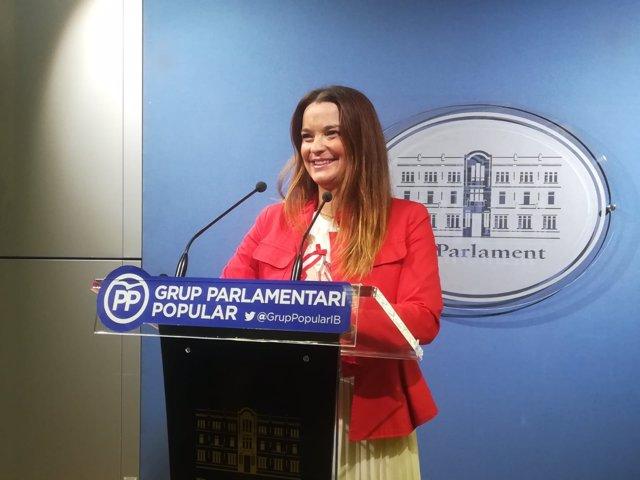 La portavoz del Grupo Parlamentario Popular, Margalida Prohens