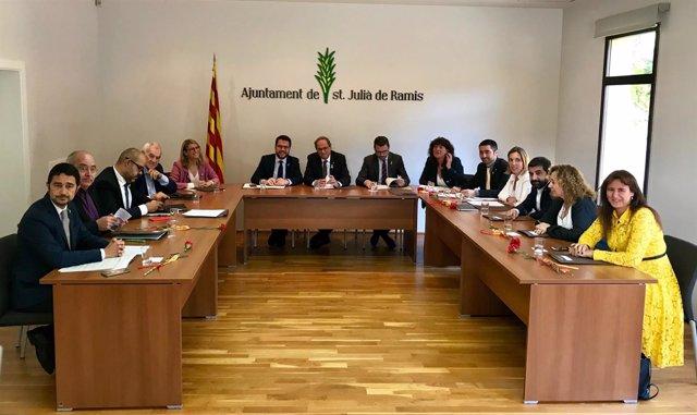 Consell Executiu en Sant Julià de Ramis (Girona) con motivo del 1-O