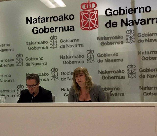 Pello Pellejero y Ana Ollo, en la rueda de prensa