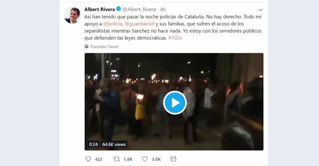Tuit de Albert Rivera