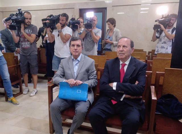 Jaume Matas y José María Rodríguez en el juicio del 'caso Over'
