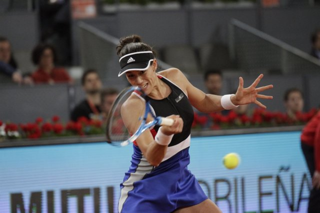 Garbiñe Muguruza en el Mutua Madrid Open