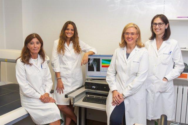 Lanca Martínez de Morentin, Elisa Félix, María Jesús Moreno y Silvia Lorente