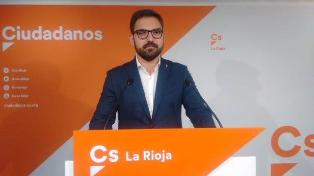 El portavoz de Ciudadanos, Diego Ubis